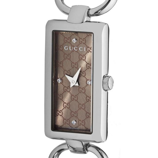 Gucci Women's 'Tornabuoni' Brown Face Diamond Watch