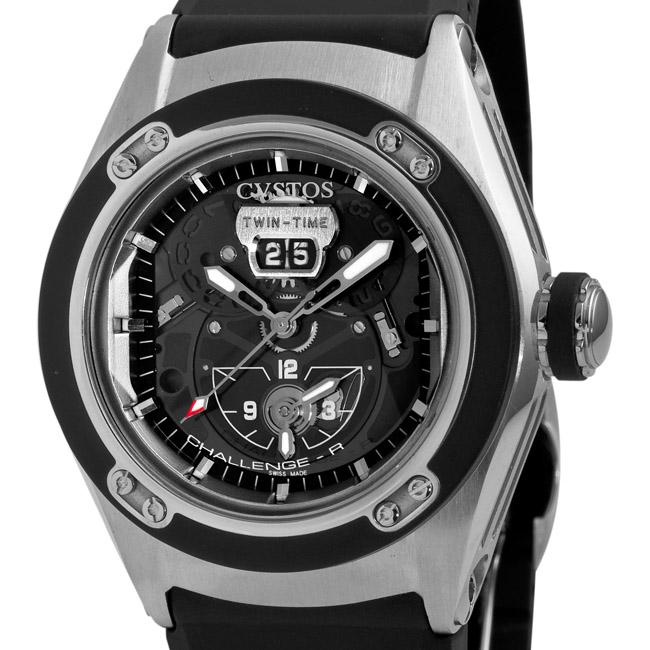 Cvstos Men's 'Challenge-R' Stainless Steel Twin Time Watch