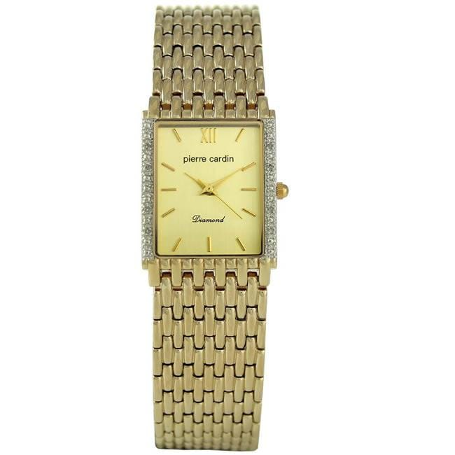 Pierre Cardin Women's Stainless Steel Goldtone Diamond Accent Watch