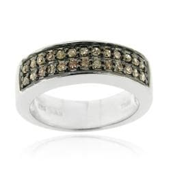 Sterling Silver 1/4ct TDW Brown Diamond Ring (Brown, I2-I3)