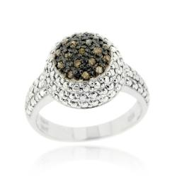 Sterling Silver 1/5ct TDW Brown Diamond Dome Ring