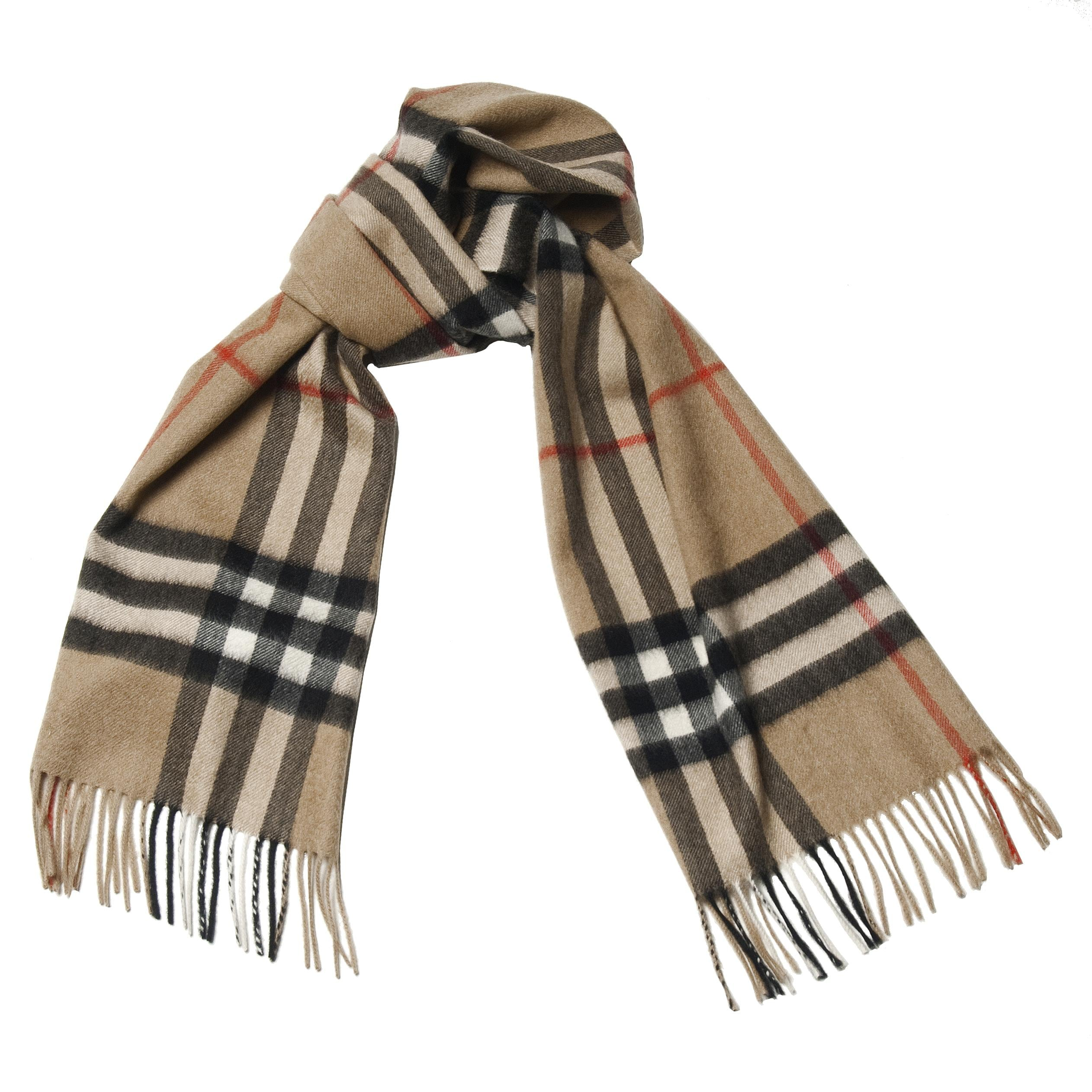 Burberry Plaid Camel Cashmere Scarf  JustCampus Burberry Scarf Women