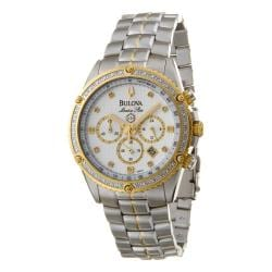 Bulova Men's 'Marine Star' Two-tone Steel Quartz Diamond Watch.