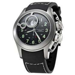 Hamilton Men's 'Khaki Navy' Titanium and Rubber Automatic Watch.