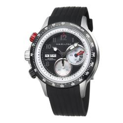 Hamilton Men's 'Khaki Aviation' Stainless Steel and Rubber Watch.