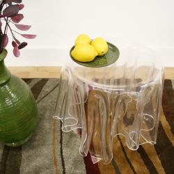 Blair Clear Modern Tablecloth 'Illusion' Acrylic Table