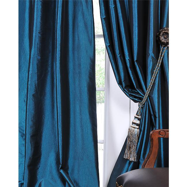 blue silk curtains