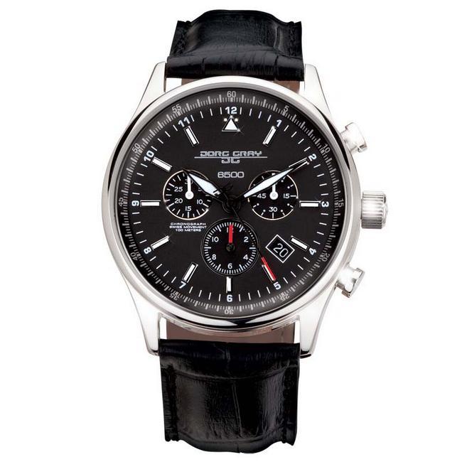 Jorg Gray JG6500 Commerative Obama Black Dial Chronograph Men's Watch