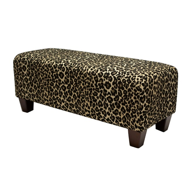New 50 w leopard print bench w o storage made in usa ebay Leopard print bench