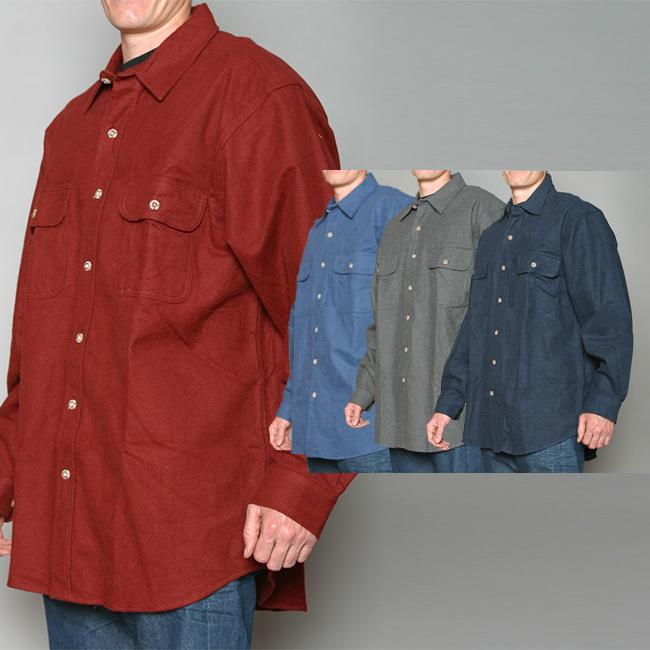 Field and Stream Solid Long-sleeve Flannel Shirt