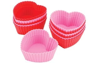 Wilton Heart-shaped Silicone Baking Cups (Pack of 12)
