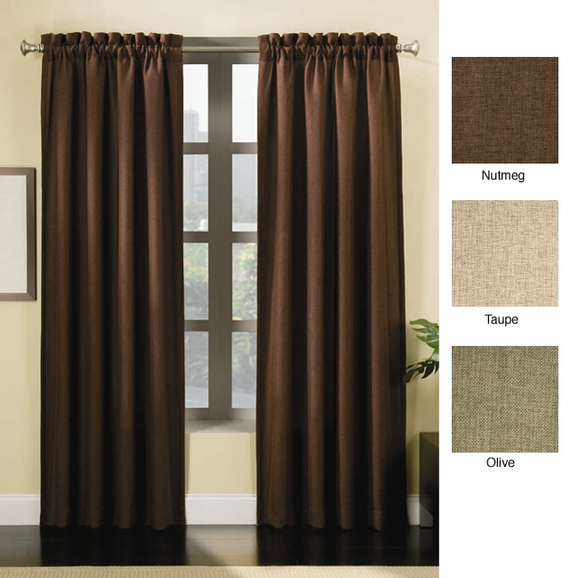 Overstock - Solid Insulated Thermal Blackout Curtains - $38.99