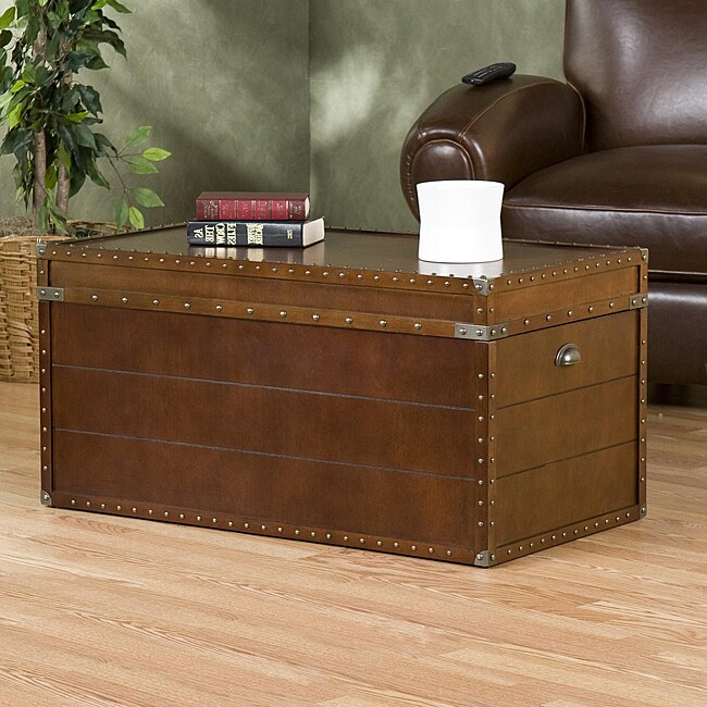 Jenny castle design coffee table trunk for Overstock trunk coffee table