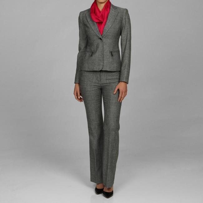 woman in pantsuit. Women#39;s Charcoal Pant Suit