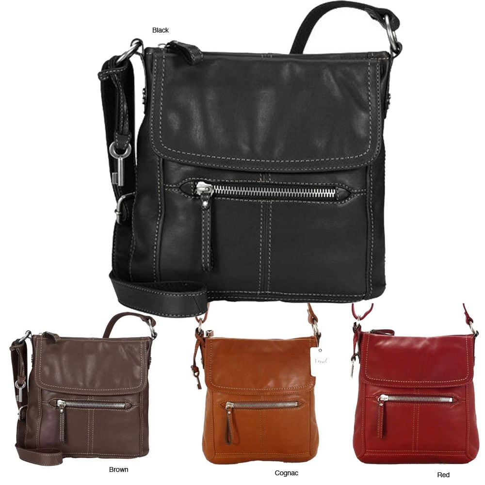 Fossil 'Hanover'Leather Cross-body Bag, buy Fossil Handbags & Purses