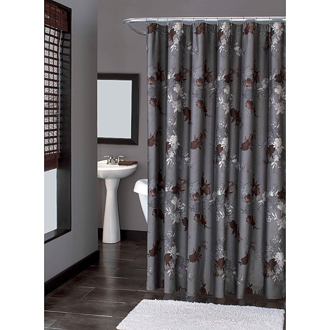 modern garland shower curtain