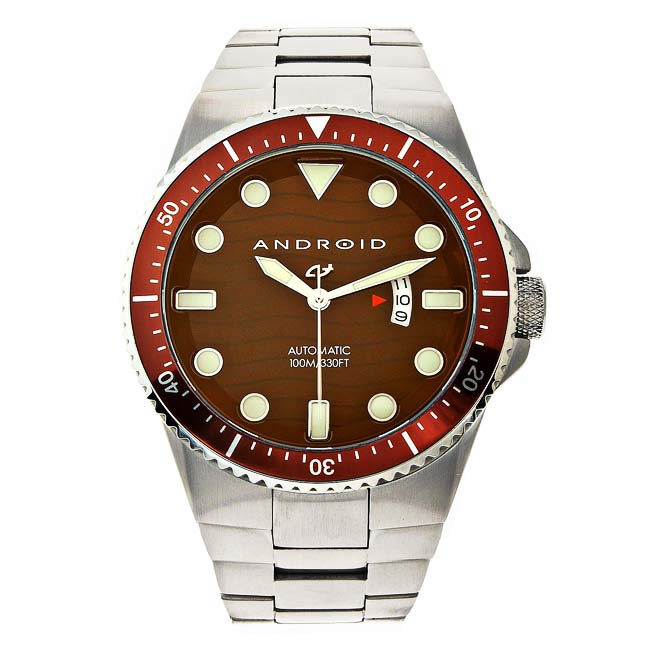 Android Men's Divemaster Trans 50 Steel Automatic Watch (Brown dial)