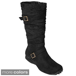 Glaze by Adi Microsuede Flat Mid-Calf Boots
