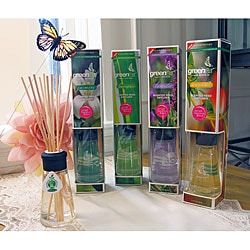 Greenair Aromatherapy Essential Oil Reed Diffusers (Set of 4) | Overstock.com | Oil Diffuser :  air freshener home scents oil diffuser fragrant oil