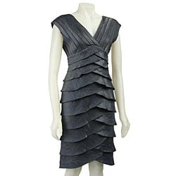 adrianna papell tiered dress | eBay