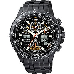 Citizen Eco-Drive Skyhawk A-T Men's Black Steel Watch.