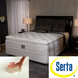 Serta Delphina Pillow-top King-size Mattress Set