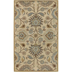Hand-tufted Coliseum Beige Wool Rug (8' x 11')