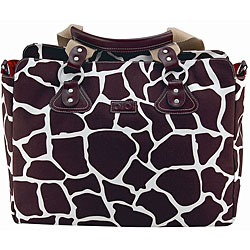OiOi Cocoa Giraffe Tote Diaper B...