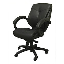 Ergomax Black Leather Executive Chair.