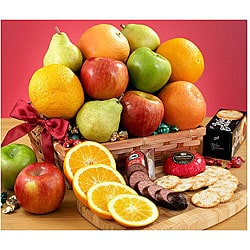 Classic Fruit and Food Gift Basket.