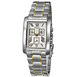 Caravelle Men's 'Sport' Two-tone Stainless Steel Watch.