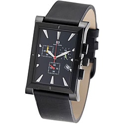 Danish Design Men's Black Titanium Chronograph Watch.