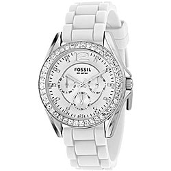 Fossil ES2344 Women's 'Riley' White Multi-function Chrono Watch