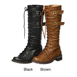 Enigma Women's 'BC 361' Lace-up Knee-high Boots