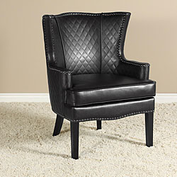 Roma Quilted Leather Arm Chair.