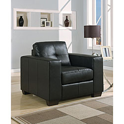 Contemporary Black Leather Chair.