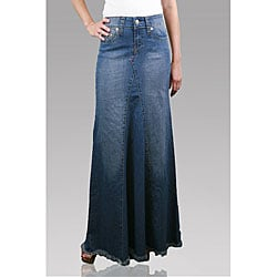 Naomi Women's Light Wash Denim Mermaid Skirt | Overstock.com