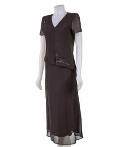 Patra Beaded Mock-Jacket Dress   Dillards.com