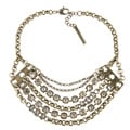 BCBGeneration Goldtone Clear Stone Multi-strand Necklace