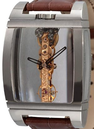 Stylish Corum watch with the famous gold baguette movement